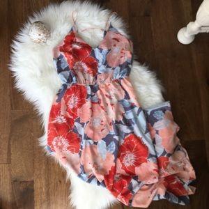 Loft Floral Maxi Dress Size 2P